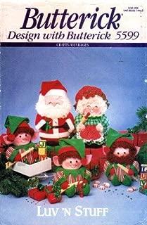 Butterick 5599 Crafts Sewing Pattern Luv 'N Stuff Christmas Santa Mrs. Claus Elves Dolls