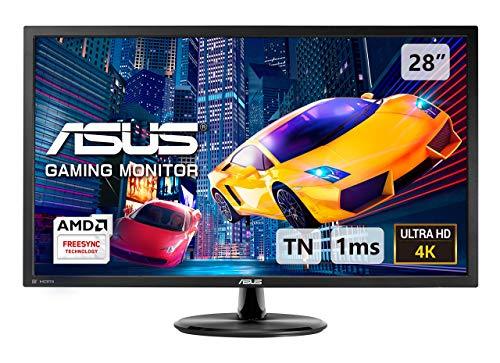 ASUS VP28UQG 28 4K UHD 3840 x 2160 1ms Display Port HDMI Adaptive Sync FreeSync Eye Care Gaming Monitor