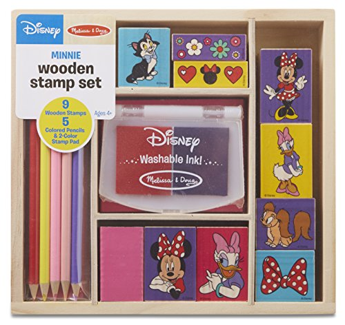 Disney Minnie Mouse Wooden Stamp Set