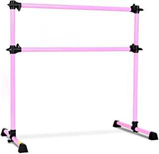 GOFLAME Ballet Barre Portable Double Freestanding Ballet Barre Adjustable Portable Heavy Duty Dancing Stretching Ballet for Home,Dance Barre, Fitness Ballet Bar