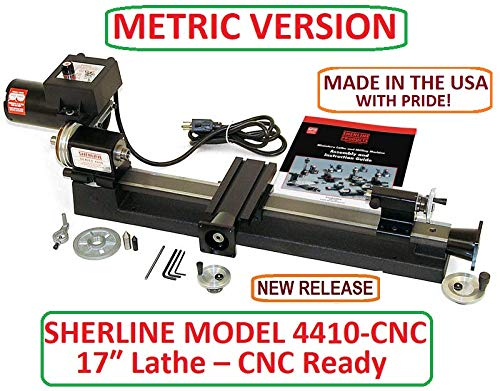 Buy Discount Sherline 4410-CNC Metric Version 17 Lathe with CNC couplers (CNC Upgrade not Included ...
