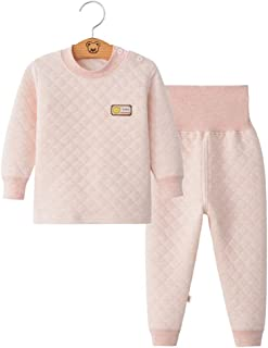 Fairy Baby 2Pcs Infant Toddler Baby Pajamas Set Thermal Underwear Thick Cotton Long Johns
