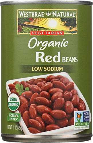 Westbrae Natural Organic Red Beans, 15 Ounce Cans (Pack of 12)