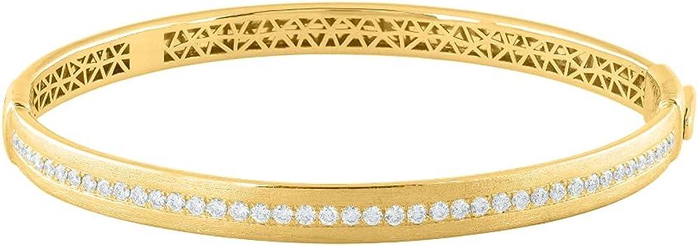 1 Carat Diamond Fashion Bangle in 14K Large special price !! Gold Bracelet Ranking TOP3