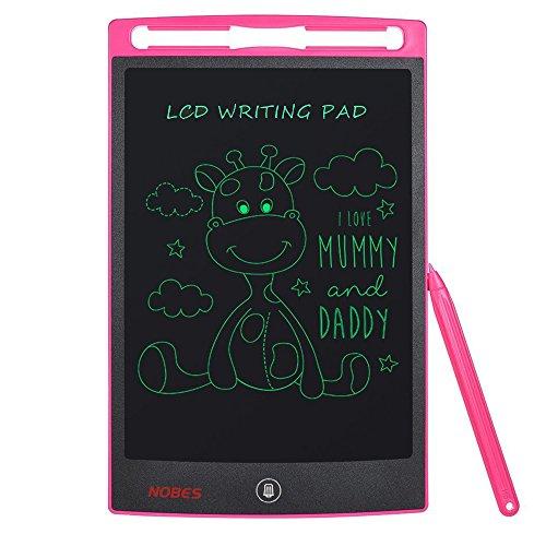 NOBES Tableta de Escritura LCD 8.5 Inch, LCD Tablero de Dibujo Pizarras mágicas,Tablet para Niños,Juguetes Regalos para Niños Niña,Juegos Educativos (Rosa)