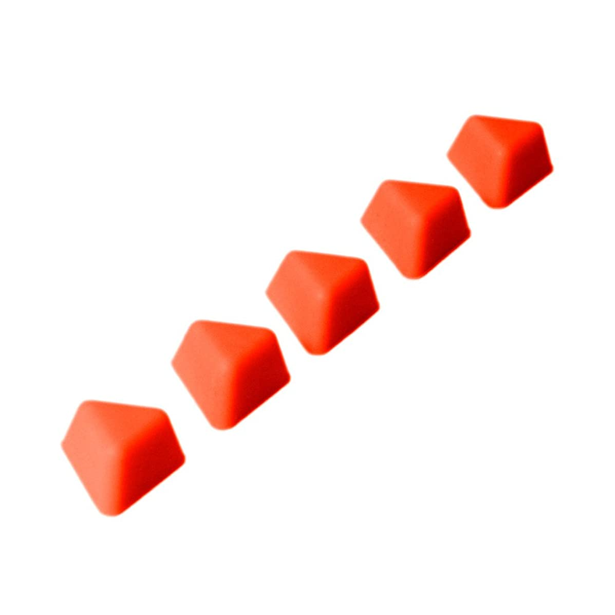 KMN Home DrawerDecor Triangle Divitz, Silicone Adjustable Kitchen Drawer Dividers and Organizers, 5 Pack - Orange