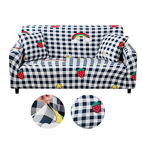 KKDIY Funda de sofá Elasticidad Funda Antideslizante Funda de sofá para Sala de Estar Funda de Licra Universal para sofá elástico de 1/2/3/4 plazas-4,4