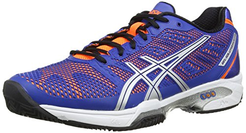 asics Gel-Solution Speed 2 Clay, Zapatillas de Deporte Exterior para Hombre, Azul-Blue (Blue/Flash Orange/Silver 4230), 42 EU