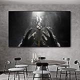 fdgdfgd Póster Abstracto del Miedo al Espacio del Astronauta Lienzo Arte decoración Moderna Imagen