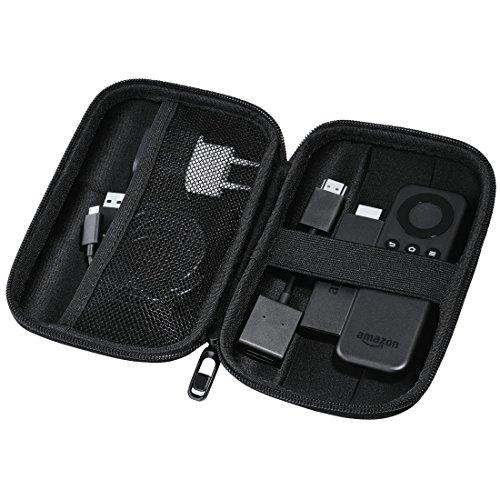 Hama Fire TV Stick & HDD Case (2,5 Zoll, Reiseetui, wasserabweisend, stoßresistent, integriertes Kabelfach, 2.5 Zoll Festplattentasche und SSD) schwarz