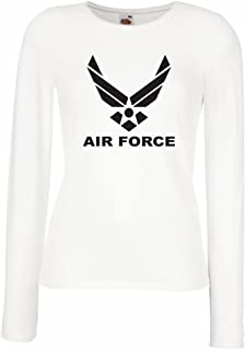 lepni.me Women's T-Shirt United States Air Force (USAF) - U. S. Army, USA Armed Forces