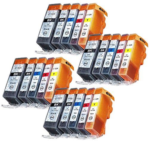 Abcs Printing stampante cartucce compatibili Canon PGI 525 CLI 526 ,Per CANON PIXMA IP4850 IP4950 MG5150 MG5250 MG5350 MG6150 MG6220 MG6250 MG8150 MG8220 MG8250 MX715 MX885 IX6550