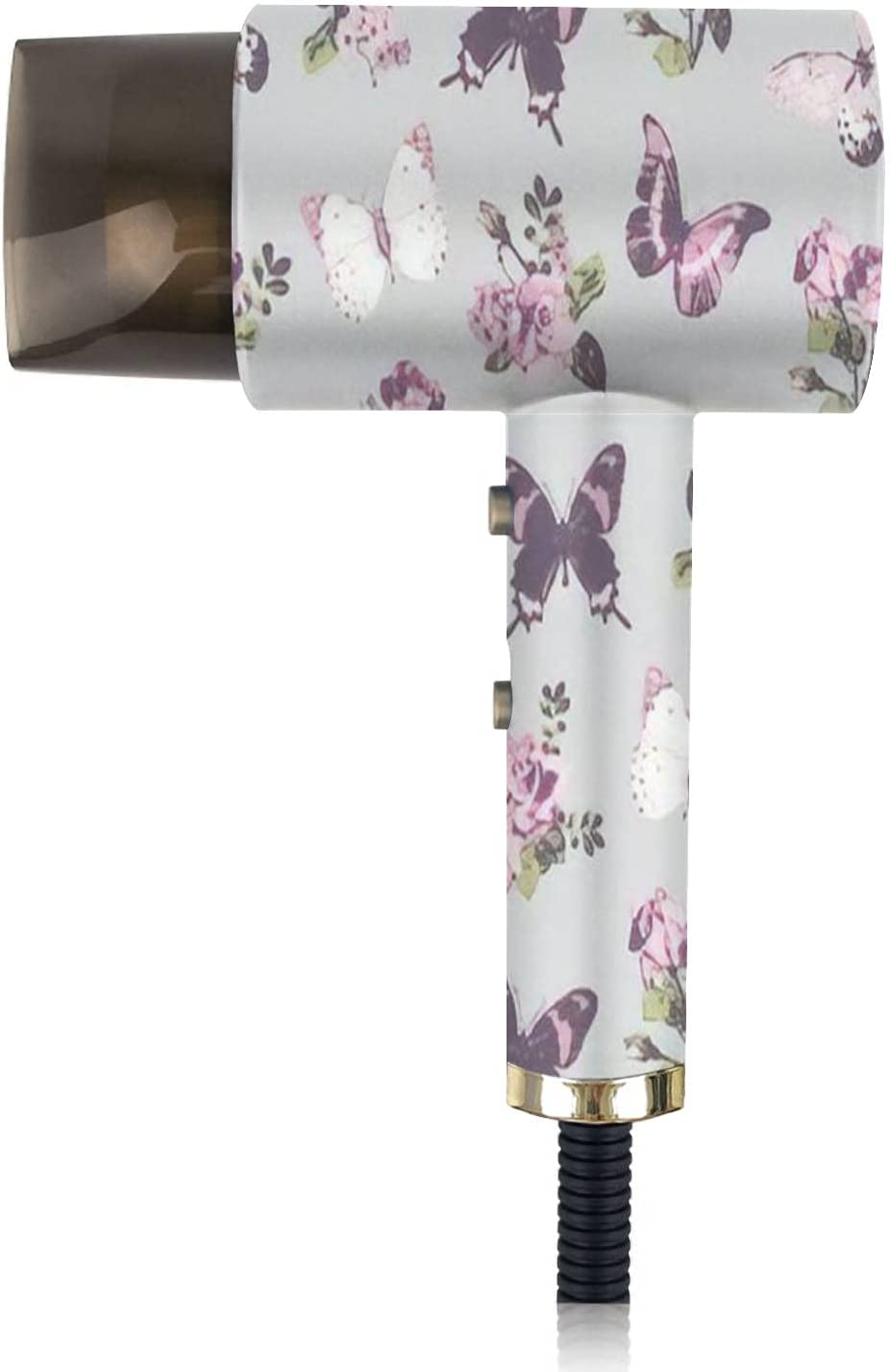 Ionic Hair Dryer Superior Seamless Rose Grey with Butterfly on Background Special Campaign
