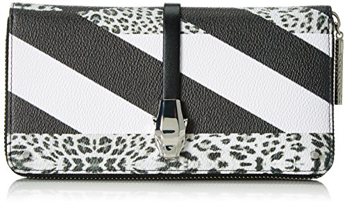 Cavalli CLASS - Portafoglio da donna, misura lunga, con cerniera, 20 x 10 x 3 cm, Multicolore (Multicolore (Leopard 201)),...