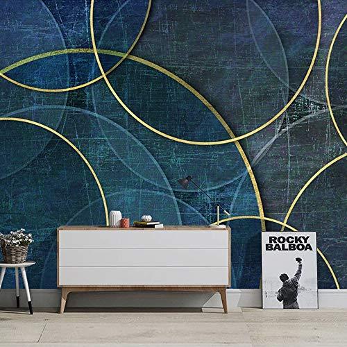 Mural geométrico creativo 3D personalizado, revestimiento de paredes, sala de estar moderna, sofá, TV, fondo, lienzo impermeable, papel tapiz de tela, murales-208X146CM