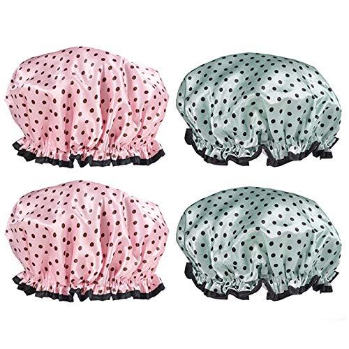 FNKDOR Chapeau de Chapeau de Satin Bonnet de Cheveux de la Mode des Femmes Nuit Chapeau de Sommeil Dames Chapeau Confortable-Turban