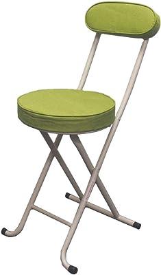 背付き折りたたみチェアーGR | 折り畳み 折りたたみ チェア イス 椅子 背付き 背もたれ キッチン コンパクト 収納 おしゃれ 北欧 クッション グリーン