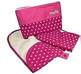 Windeltasche Sterne mit Wickelunterlage pink, Baby Wickeltasche, Wickelunterlage für unterwegs, Baby Geschenke