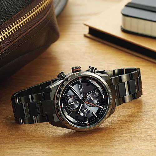 『[シチズン] 腕時計 アテッサ Eco-Drive エコ・ドライブ電波時計 ダイレクトフライト ACT Line AT8185-62E メンズ ブラック』の1枚目の画像