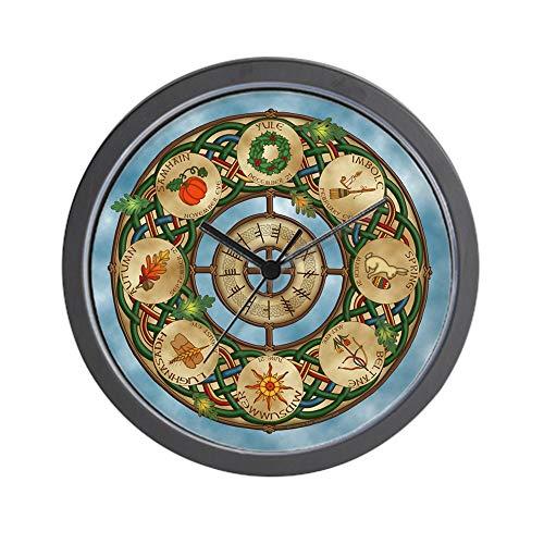 CafePress Celtic Wheel of The Year Unique Decorative 10' Wall Clock