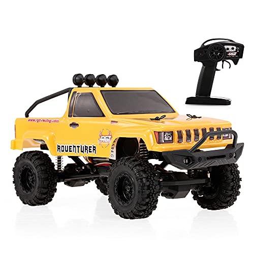 Nsddm Mini Coche RC a Escala 1/24 Vehículo eléctrico Todoterreno 4WD Coche Control Radio de 2,4 GHz Camiones Todo Terreno Monster Climbing RC Camión RC Aficionado para Adultos batería Recargable