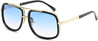 Aviator Sunglasses For Men Women Retro Vintage Square Designer Shades with Case