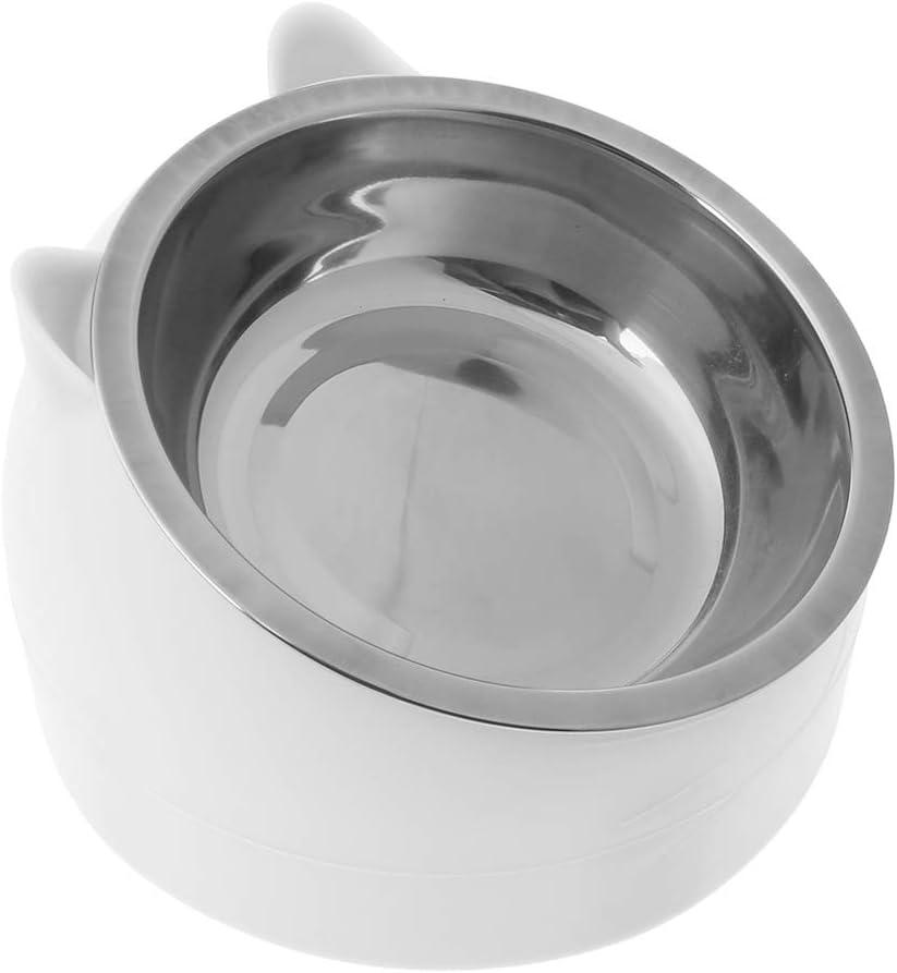 antiscivolo inclinata a 15/° 1 pezzo per animali domestici Ciotola per cibo per cani e gatti in acciaio inox