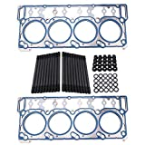 RASTP ARP Engine Gasket Set Kit for Ford 6.0L Powerstroke Diesel Head Stud Kit Head Gaskets 03-06 18mm Head Stud Kit RS-TC018