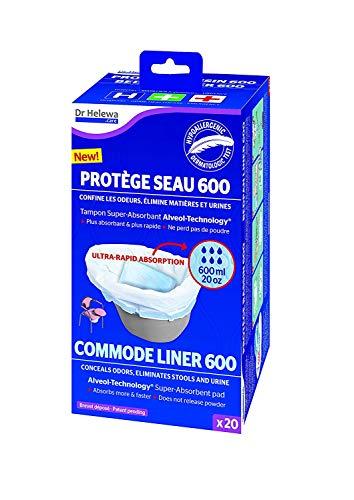 1/2/3er Set Commode Liner a 20 Stück Toiletteneimer Toilettenstühl Nachttopf Bett Toilettenbeutel Pflege Medizin Krankenhaus (1 Set =20Stk)
