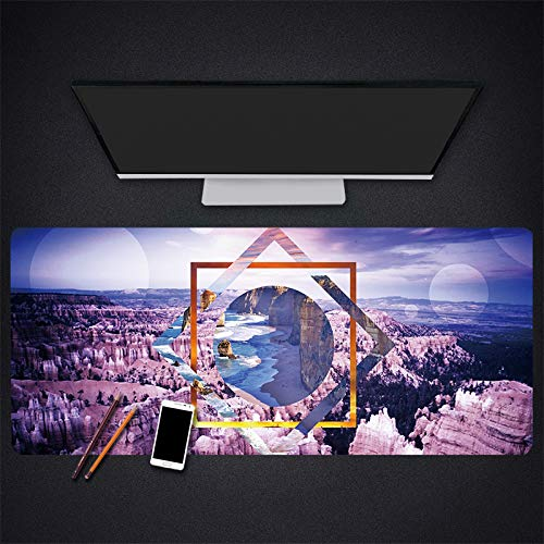 Mousepad Gaming Landschap Patroon Muis Pad Behang Desktop Computer Mousepad Gaming Notebook Toetsenbord Muis Mat, 300 * 700 * 3mm