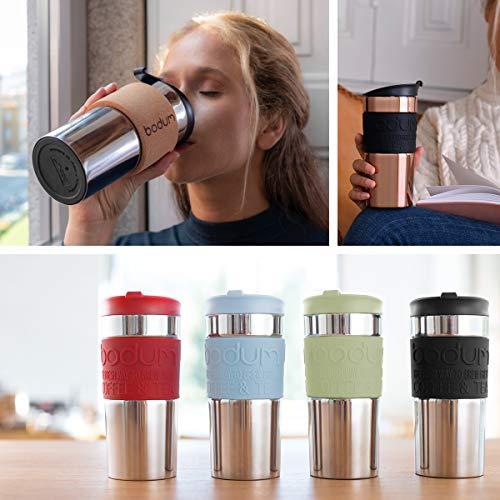 Bodum 11068-01 Vacuum Travel Mug, 0.35 L - Small, Black