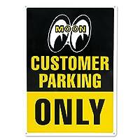 ムーンアイズ カスタマー パーキング オンリー プレート MOONEYES Customer Parking Only MG816MC アメリカン雑貨