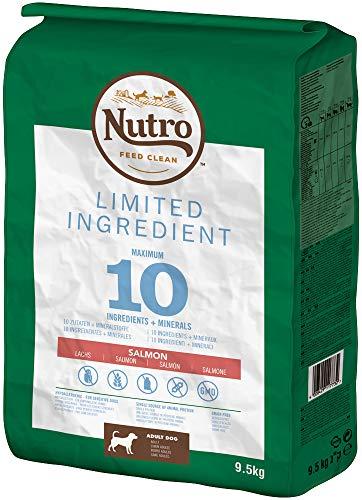NUTRO Hundefutter Trockenfutter Limited Ingredient Adult 1+ Mit Lachs, 1 Beutel (1 x 9.5kg)