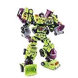Siyushop 6 in 1 Giocattolo del Robot, Robot di Salvataggio degli Eroi, Modello di Robot di Combattimento, Robot di ingegneria del Veicolo Adatto, Robot in disaccordo Combiner Team Combiner Force