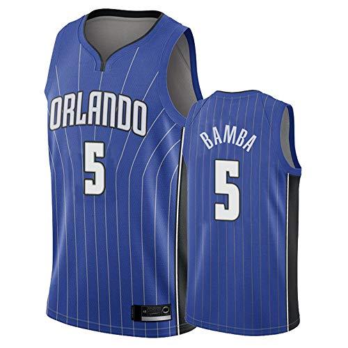 SHR-GCHAO Hombre Orlando Magic # 5 MO Bamba NBA Basketball Jersey, Gimnasio...