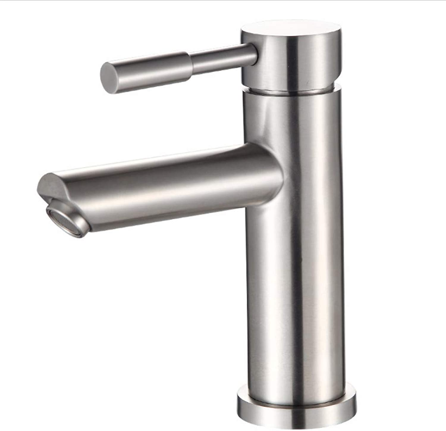 Basin Faucetglass Basin Straight Nozzle Single Hole 304 Stainless Steel Hot and Cold Basin, Faucet Water Mixing Valve Washbasin Faucet