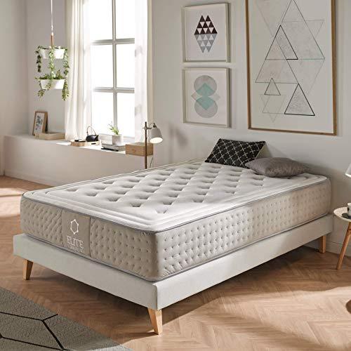 Dreaming Kamahaus Platinum Matratze H3 mittelfest | Ergonomisch mit Formanpassenden Memory | ÖkoTex Rollmatratze (90x190x30cm H3)