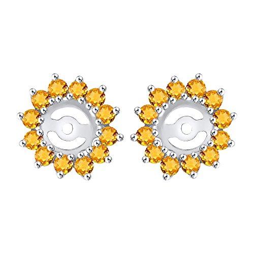 Citrine Earring Jackets in 14K White Gold (1 cttw)