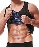 NINGMI Sweat Vest for Men - Sauna Body Shaper Tank Top Workout Jacket Zipper Lose Belly Fat Slimming Shirt Suit Gym Exercise