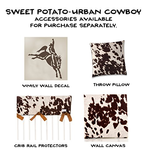 Western Cowboy Changing Pad Cover Super Soft Brown Cowhide