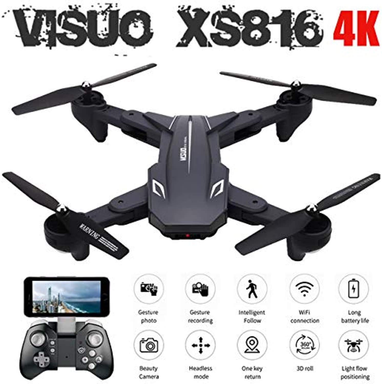 nueva gama alta exclusiva DishyKooker DishyKooker DishyKooker xs816,bitácora 4k 720P Doble cámara WiFi FPV RC,manualmente,Drone vs xs809hw xs809s e58 RC,Cuatro Drones teledirigidos. RC Drone Quadcopter Drone de Control Remoto Aeronaves Drones  más orden