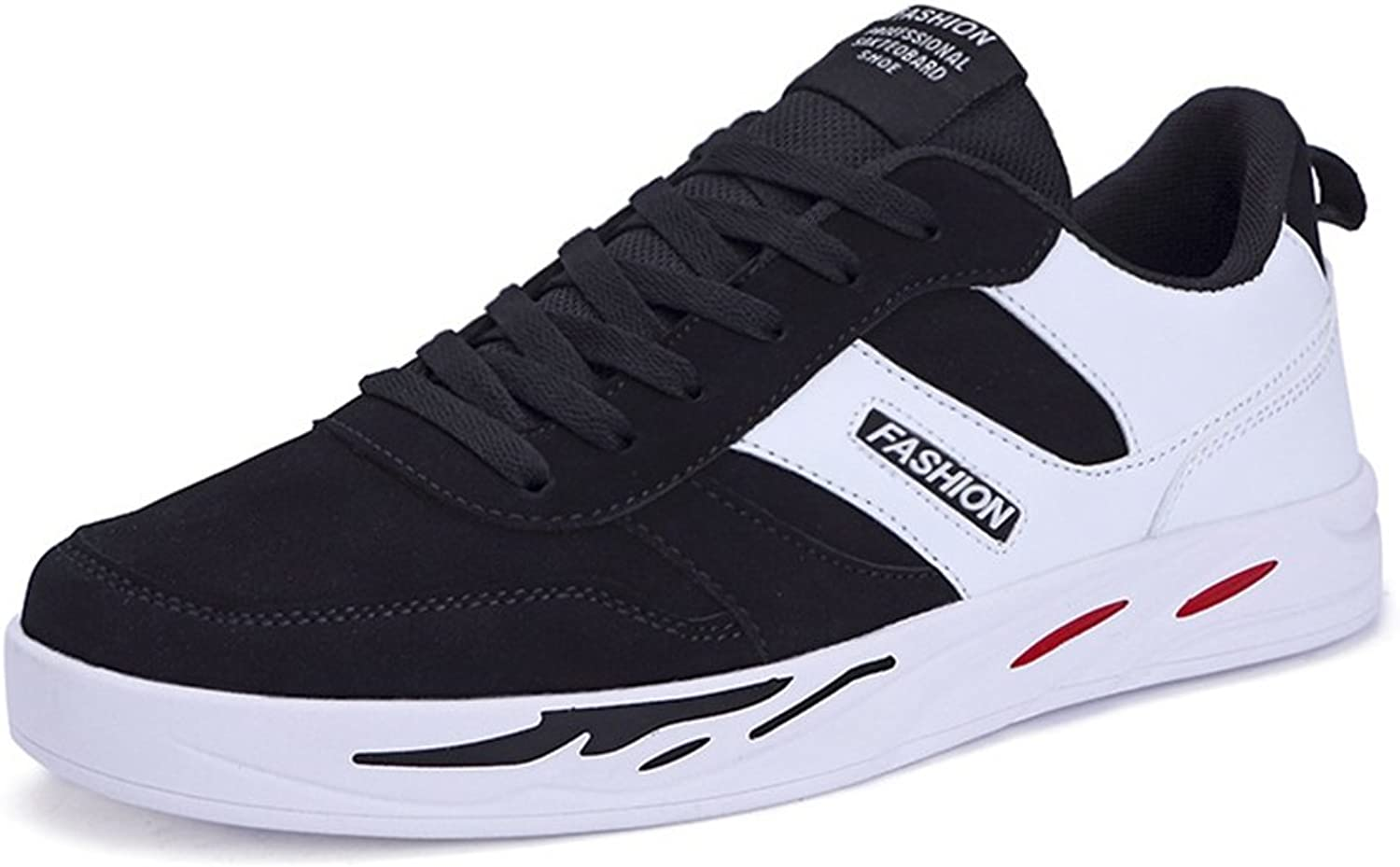 XTIANUK Mens Casual Canvas shoes Sport Non Slip Flat Teenagers Youth Boys Black White Pumps Size 5-10 UK