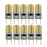 BANANAJOY G8 Dimmable Silicone Bulb 3014 SMD 64LED Lámpara de Ahorro de energía 3W (30W Halógena Equivalente) Bombilla LED Adecuada para iluminación para el hogar AC 110V (10 Paquete) Navidad (Color: