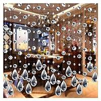 部屋仕切り部屋の仕切りと折りたたみプライバシースクリーン ガラスビーズカーテン高級リビングルーム寝室の窓のドアの装飾 (Color : As the picture show)