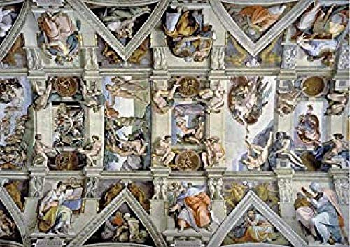WOMGD® De Sixtijnse Kapel Plafond Legpuzzels, Houten puzzels 1000 Stuks, Creatief Diy Educatief spel Moeilijk Uitdagingsspeelgoed Voor kinderen Volwassenen