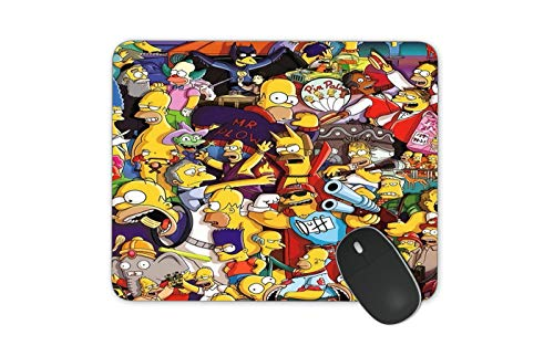 JNKPOAI The Simpsons Game Mauspad Funny Simpsons Anti-Rutsch-Mauspad Personalized The Office Mouse Pad (The Simpsons)