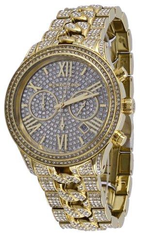 5261e9539451 Michael Kors  MK5899 Women s Lindley Golden Stainless Steel Chronograph  Glitz Watch