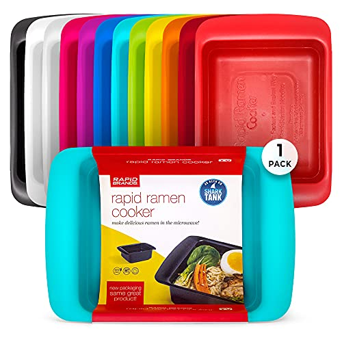 Rapid Ramen Cooker | Microwavable Cookware for Instant Ramen | BPA Free and Dishwasher Safe | Perfect for Dorm, Small Kitchen or Office | Teal