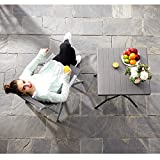 SONGMICS Gartenstuhl Klappstuhl Outdoor-Stuhl mit robustem Aluminiumgestell - 3