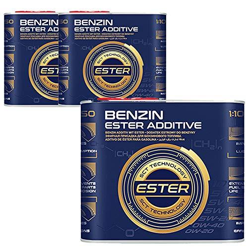 MANNOL 3 x 500ml, 9950 Benzin Ester ADDITIVE Kraftstoffsystemen Zusatz